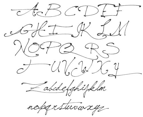 Saint-Andrew\'s Queen caractères